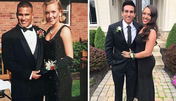 Hija usa el mismo vestido de graduación que su madre