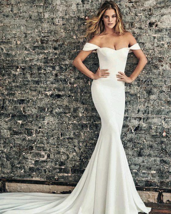 Nina Agdal en vestido