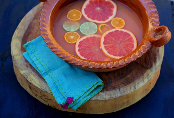 cazuela cocktail tequila con toronja