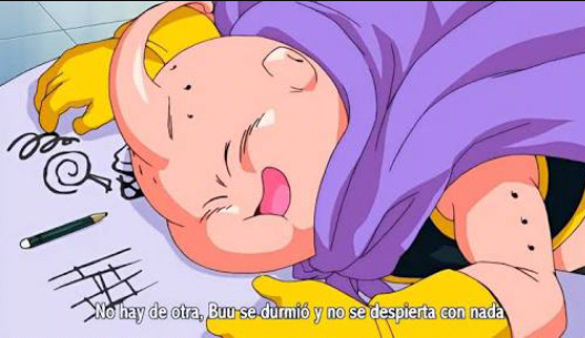 Majim Buu dormido Dragon Ball Super