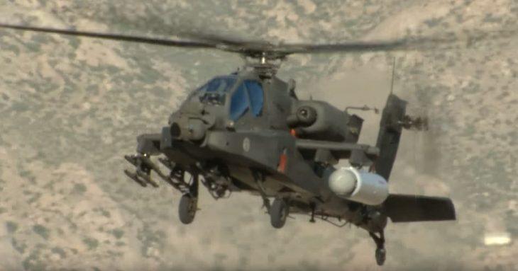 Helicóptero con láser