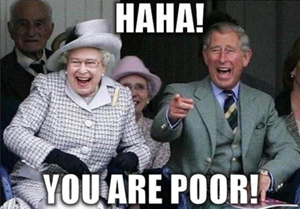 Meme reina y duque de Edimburgo eres pobre
