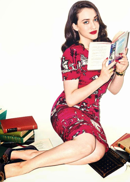 Kat Dennings Reading sexy