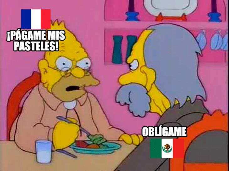 guerra de los pasteles méxico y francia meme
