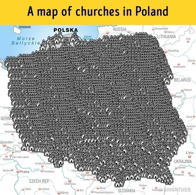 mapa iglesias