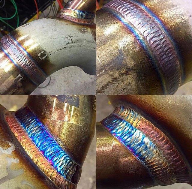 soldaduras cuatro tubos