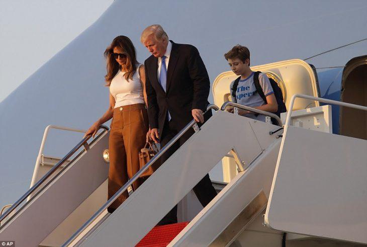 Melania trump llega a la casa blanca