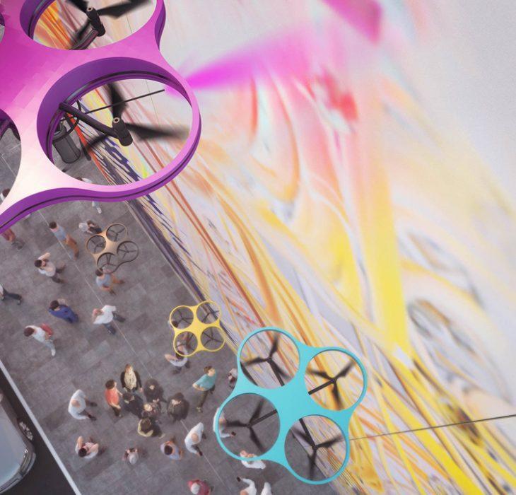 Graffiti con drones