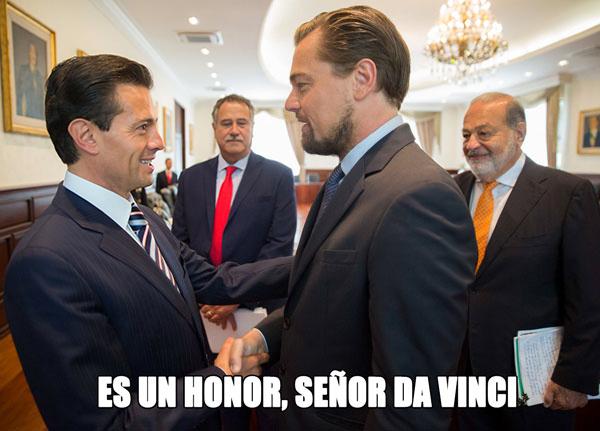 Memes Peña Nieto y DiCaprio 4