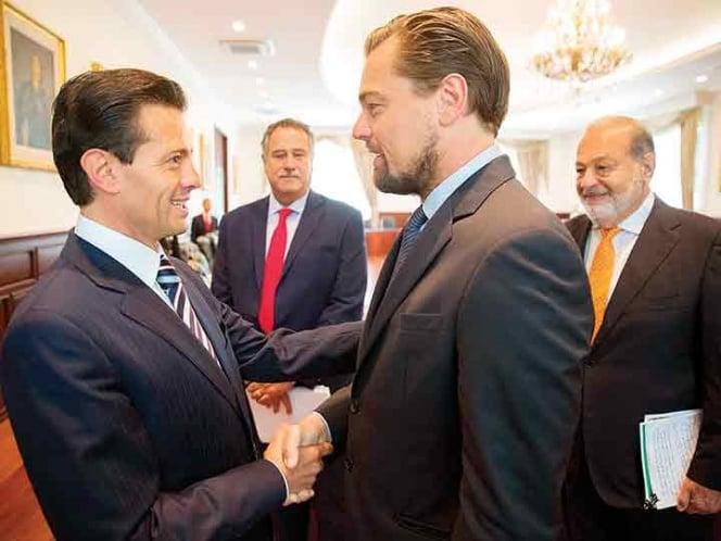 Peña Nieto y DiCaprio 2