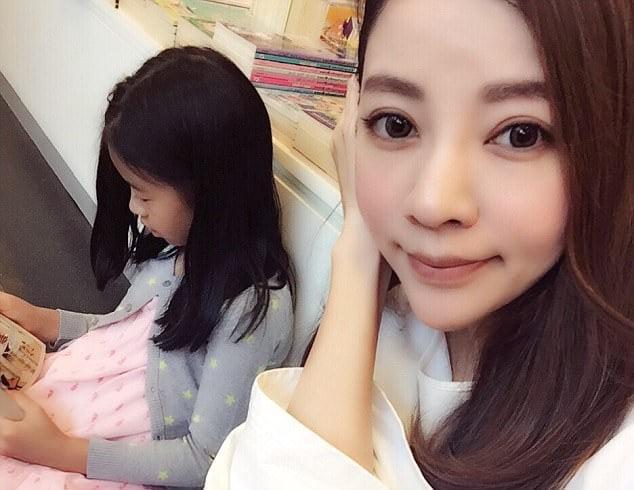 Fayfay Hsu con su hija