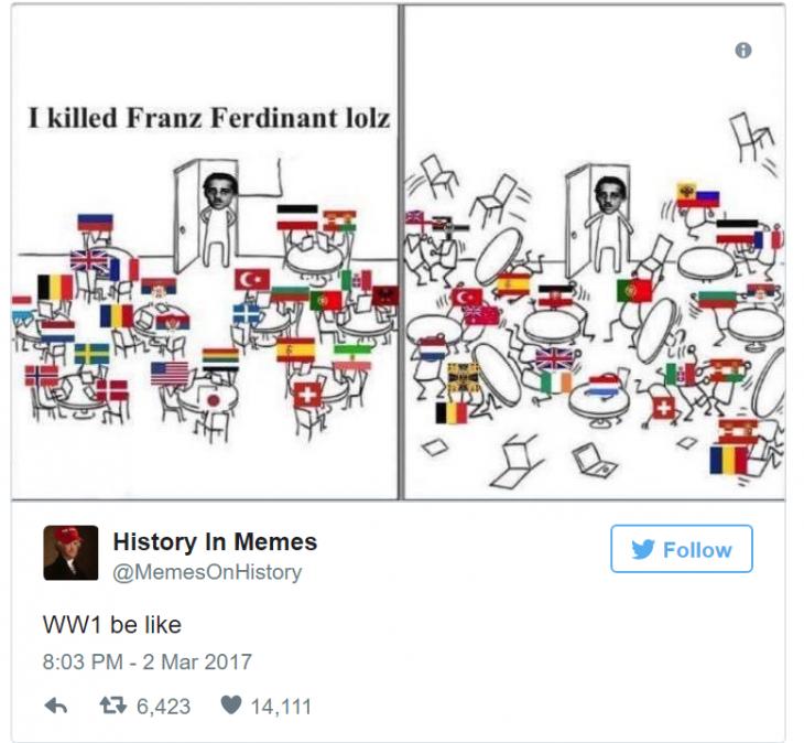 history memes 1 primera guerra mundial