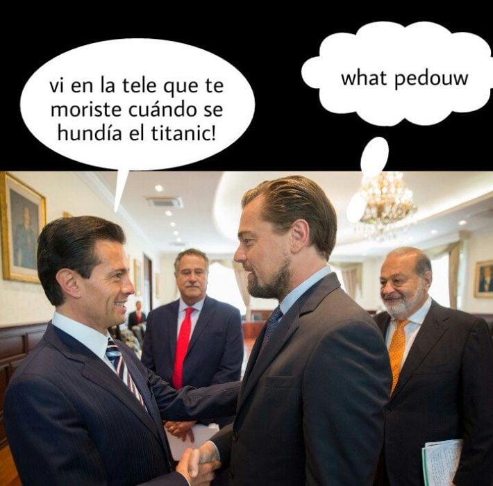 Memes Peña Nieto y DiCaprio 10