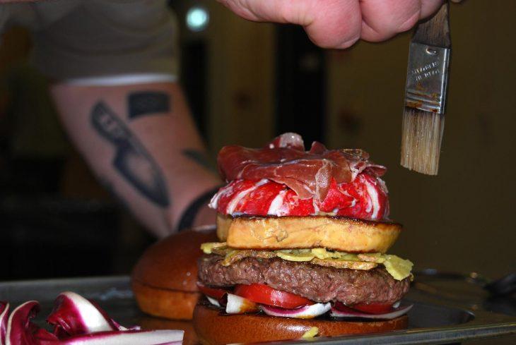Preparar hamburguesa