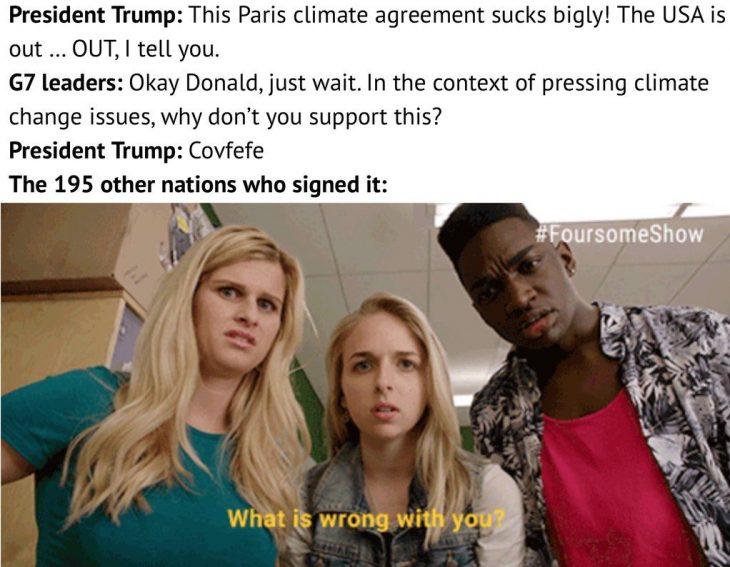 Trump y el tratado de parís covfefe