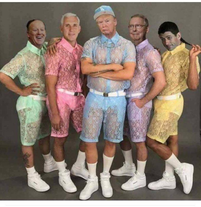 Donald trump usando lacey shorts