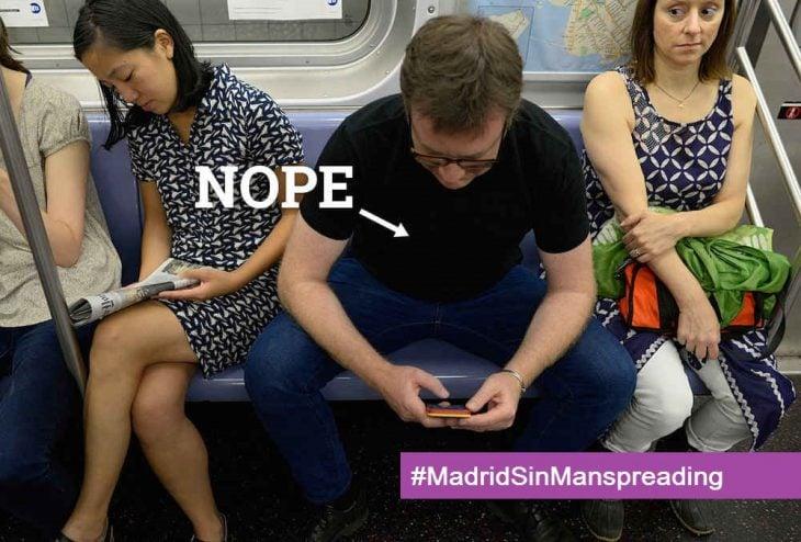madrid sin manspreading campaña 3