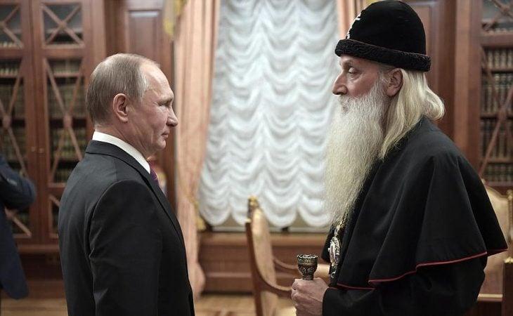 Vladimir puttin y Metropolitan Kornily