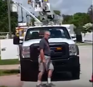 hombre camion