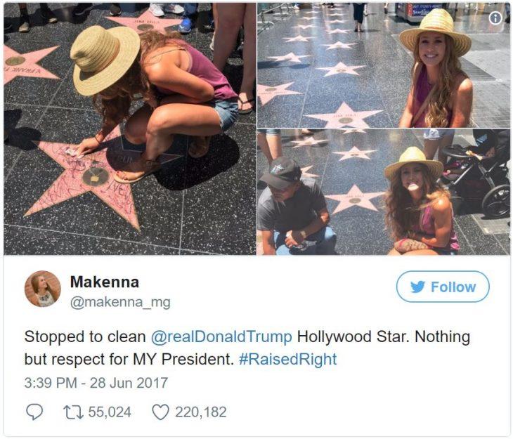 Chica limpia estrella de donald trump