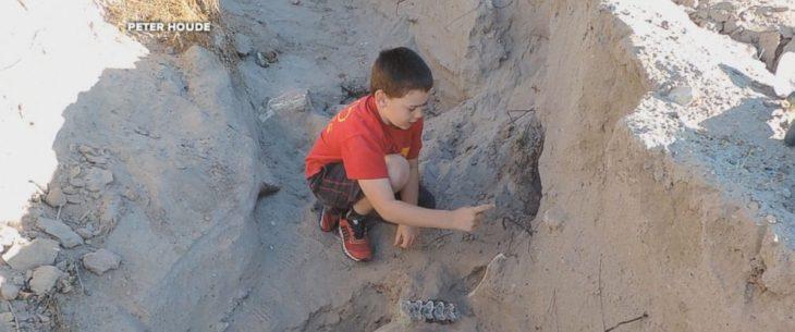 niño descubre fósil