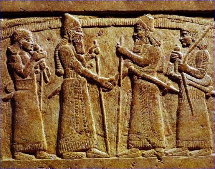 Apretón de manos egipto