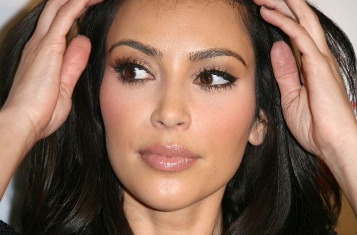 Rostro de Kim Kardashian