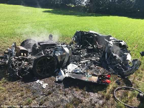 Ferrari tras accidente