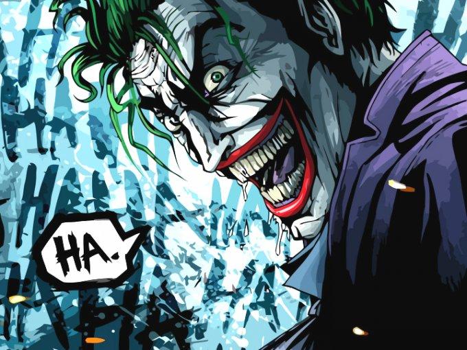 el joker riéndose