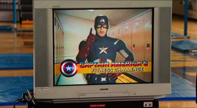 capitan américan spiderman homecoming