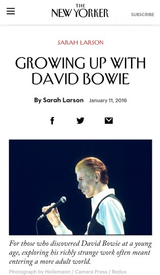 new yorker david bowie