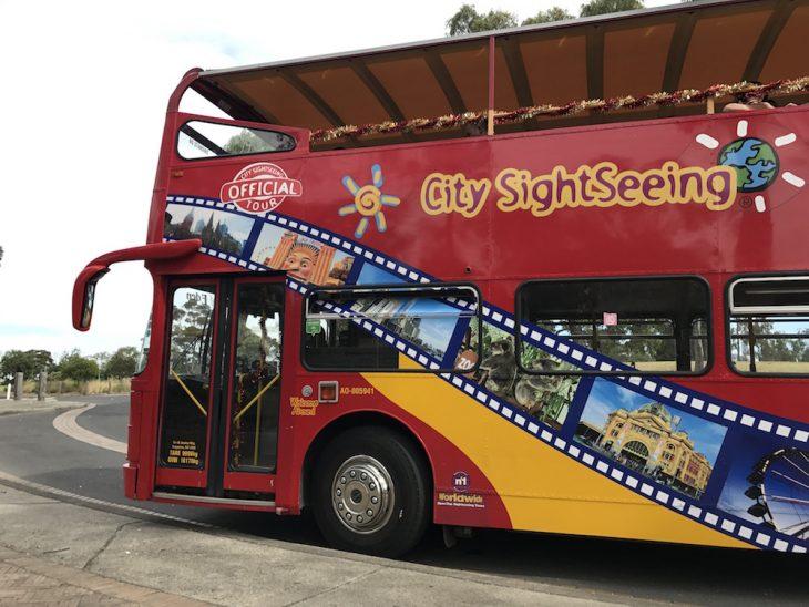Bus turístico en Melbourne