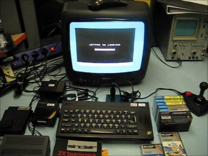 ZX Spectre conectado al televisor