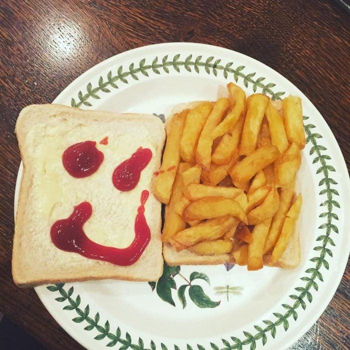 sanwich papas