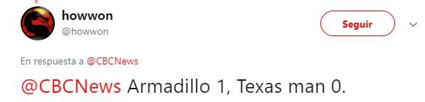 Texano le dispara a Armadillo