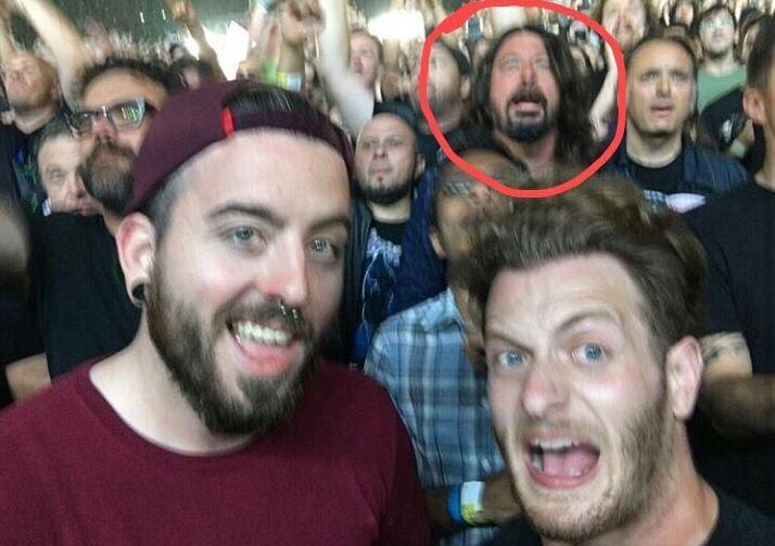 Dave Grohl en concierto de metallica