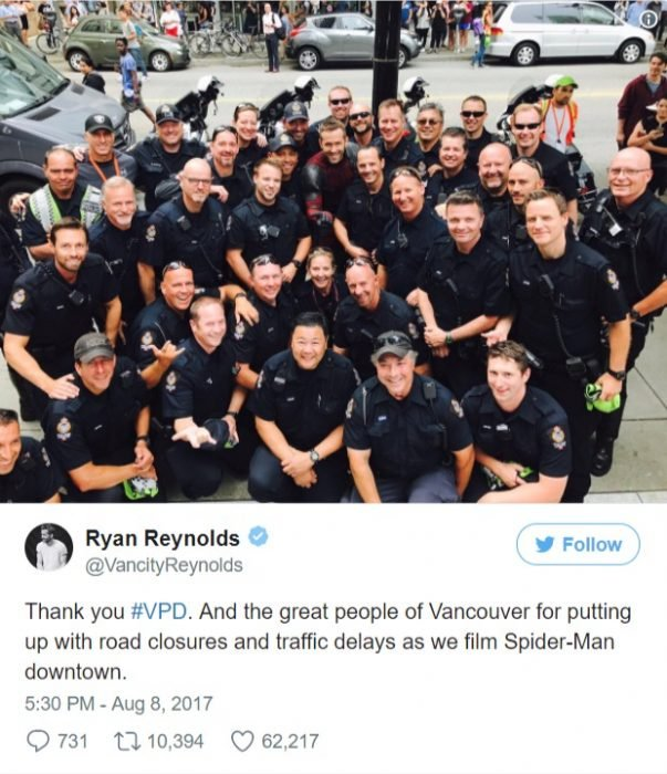 ryan reinolds se burla de spiderman twitter deadpool