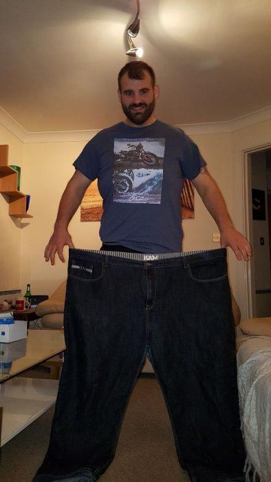 perdió 76 kilos