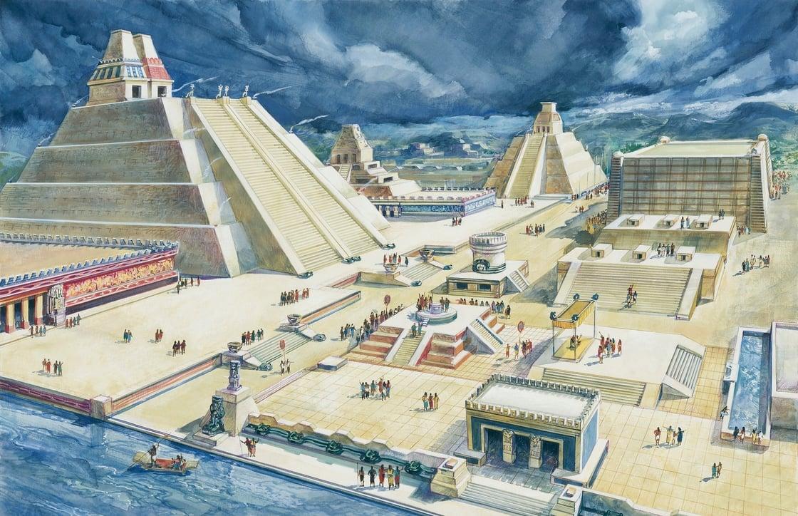 Capital del imperio mexica en méxico fue considerada la gran metrópolis de centroamérica gracias a sus construcciones vanguardistas de aquel entonces