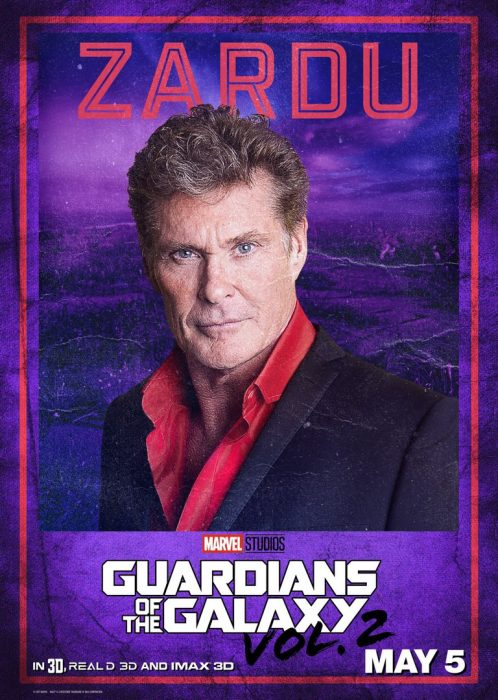 Guardianes de la galaxia David hasselhoff