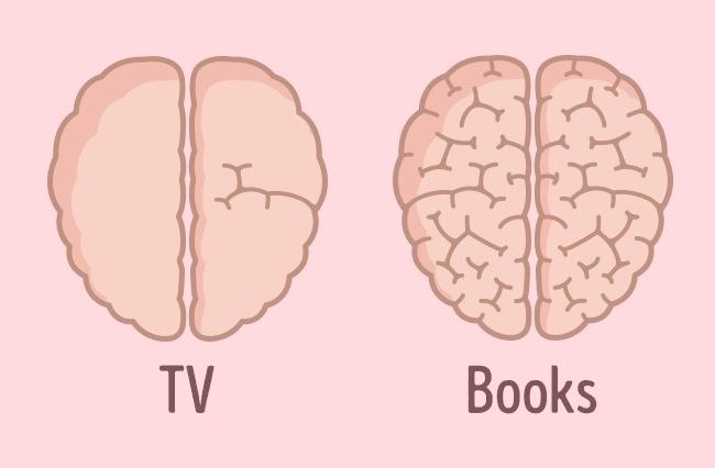 ver tv y leer cerebro