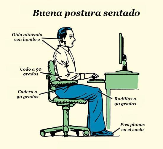 buena postura sentado