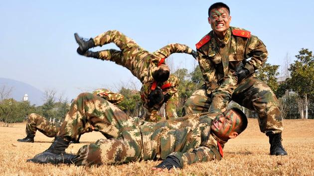 Entrenamiento de ejército chino