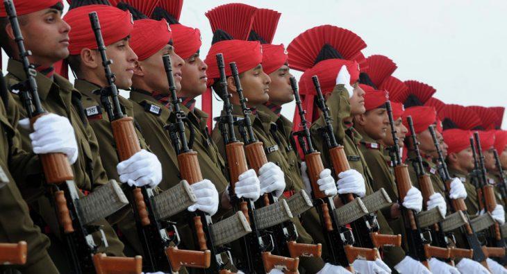 Ejército indio en formación