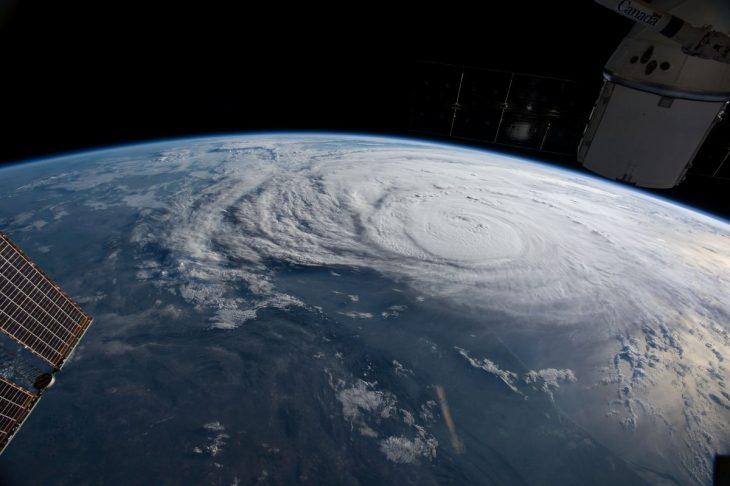 Huracán Harvey desde el espacio
