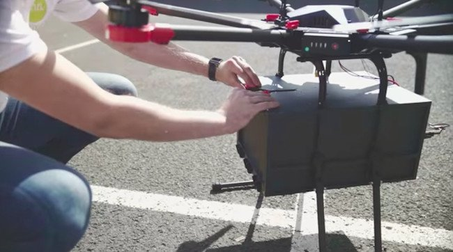 Entrega de cervezas con drones