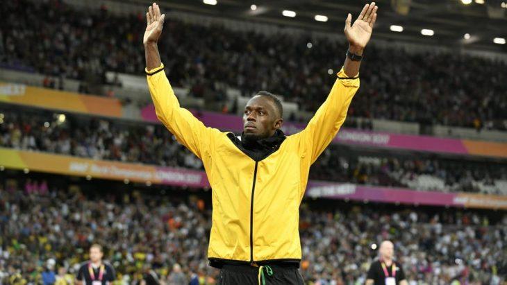 Usain Bolt celebra