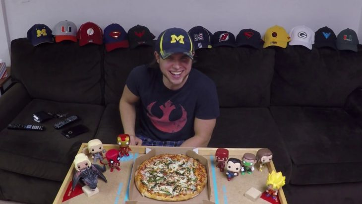 Brian Northrup come pizza durante un año