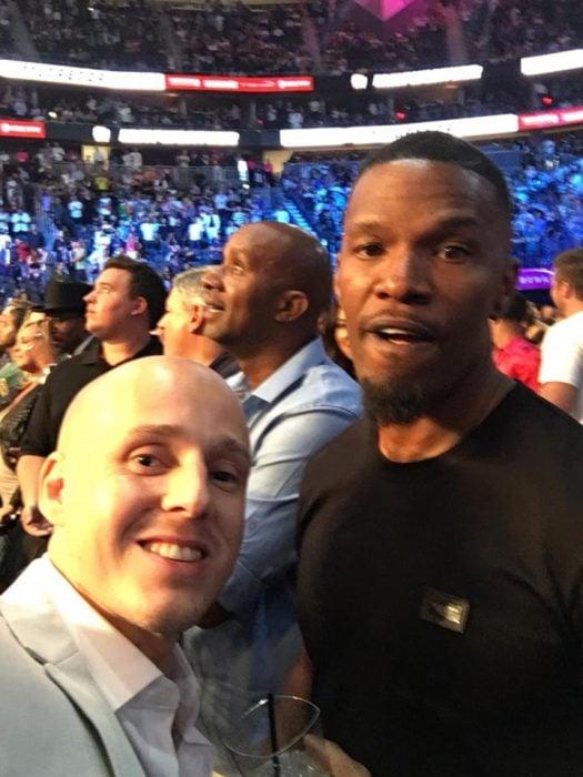 Selfies en pelea de Mayweather
