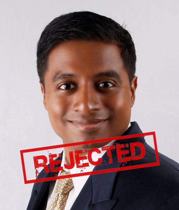 Vijay rechazado
